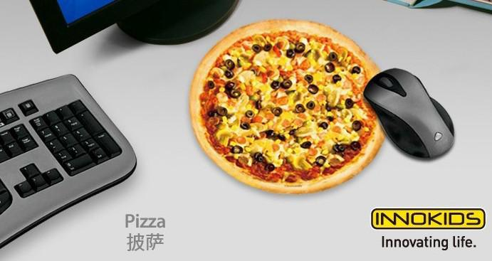 china post air innokids pizza mouse pad innovating life. Black Bedroom Furniture Sets. Home Design Ideas