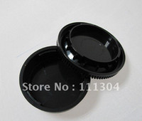 Wholesale Dslr Camera Body - free shipping+ tracking number Rear Lens Cap   Cover+Camera Body Cap for nikon SLR DSLR good survice