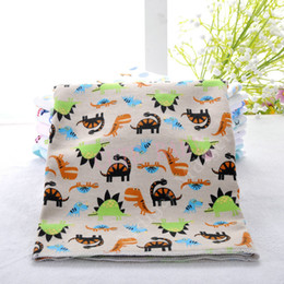 Wholesale Thin Cotton Baby Blanket Wholesale - Wholesale-2015 New Cute Cartoon Multi Colors 100% Cotton Baby Air Conditioning Thin Multipurpose Blanket Bedding Bath Towels for Babies