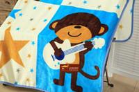 Wholesale Thick Acrylic Blankets - Wholesale-140x100cm coral fleece Baby Blanket , Cartoon Super Soft Blankets, Child Sheet Thick Warm Winter newborn blankets #50