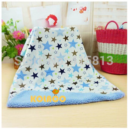 shipping baby blanket double layer short plush blanket berber fleece blankets air super soft 76x102cm 350g