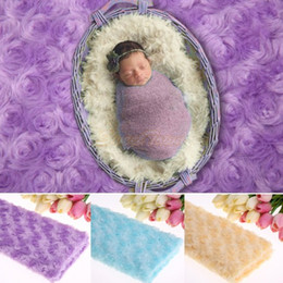 Wholesale Cheap Priced Blankets - Wholesale-Cheap Price Photography Background (104*61cm) Photography Photo Prop Newborn Baby Faux Fur Basket Blanket Dropshipping 35