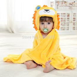 Wholesale Babys Bedding - Wholesale-New creative cartoon baby blankets, unisex flannel babys blanket ,animal head baby names cloak, super soft bedding Infant quilt