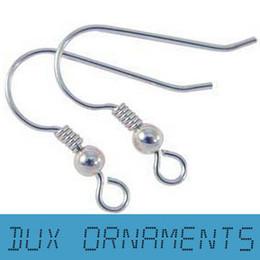 Wholesale Nickel Free Jewelry Earrings - 2000PCS 8USD 18MM Earring Findings Silver earring hooks Nickel Free Beads Wholesale Jewelry Findings earrings Wire