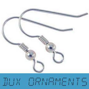 2000PCS / 8USD 18MM Risultati dell'orecchino Ganci per orecchini in argento Perline senza nichel Risultati dei monili all'ingrosso orecchini Filo