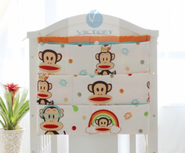 Wholesale Baby Girl Crib Bedding Cheap - Wholesale-Good Quality Cheap Price Baby Crib Accessories,Kids Storage Diaper,Free Shipping,Boys Girls Cribs Cotton Storage Bag Cheap Price