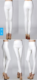 Wholesale Lady S Winter Boots - Fashion Autumn Winter Warm Women Faux Leather Pants Elastic Sexy Lady Leather Pants Slim Fit High Waist Leggings Women Trousers