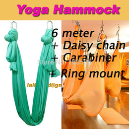 6meter full set flying yoga hammock swing trapeze antigravity inversion aerial traction device  daisy chain carabiner ring mount yoga swing on sale discount yoga swing   2018 anti gravity yoga swing on sale at      rh   dhgate