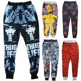 Wholesale hiphop jogging pants - Alisister New Fashion men women jogging pants 2pac clothes 3d emoji cartoon joggers pants Casual hiphop sweatpants trousers