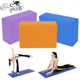 Wholesale Foam Gym - Free Shipping! 4 Color Yoga Foam Foaming Block Brick Stretch Aid Health Fitness Home For Pilates Exercise Gym Tool
