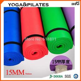 15 MM 0.6 inç kalın ekstra uzun spor Yoga ve pilate için egzersiz Mat Taşınabilir kaymaz NBR yastık açık seyahat için cheap nbr mat nereden nbr mat tedarikçiler