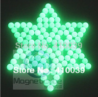 Wholesale Glow Magnetic - Free Shipping 216pcs 5mm Glow-in-the-dark Magnetic Luminous Buckyballs Neocube Fluorescent Neo cube Novelty Intelligence Puzzle