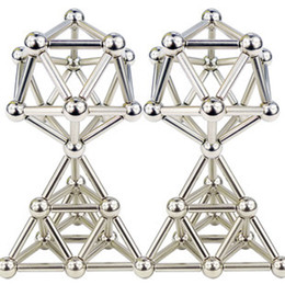 Wholesale Puzzles Bar - Free Shipping 36pcs D4mm*L24mm Nickel Bucky bars Magnets Bars Rods+27pcs D8mm Steel Ball with Metal Box Neocube Buckyball Puzzle