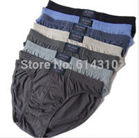 Wholesale 4xl Mens Briefs - Free shipping 10pcs lot 100% Cotton Mens Briefs Men Underwear Panties M L XL XXL XXXL 4XL 5XL   Men's Breathable Panties