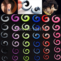 spiral ear gauges set - NEW set mm Fashion Mixed Acrylic Spiral Gauge Ear Plug Stretcher Flesh Piercing Jewelry