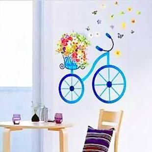 Bedroom Dining Room Wall Stickers Butterfly Flowers Bike - Wall stickers for dining room