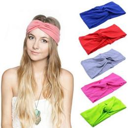 Gli accessori per capelli della fascia dei capelli molli annodati dell'involucro della fascia della testa della turbante di 1 PCS delle nuove donne di PCS da