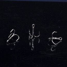 Wholesale Treble Hook Wholesalers - 100pcs Size 4# High Carbon Steel Treble Fishing Hook Fishhooks Fish Hard Bait Tackle Tool