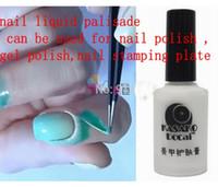 Wholesale Gel Nail Stamps - New Nail Polish Finger Skin Protected Gel Nail Polish Liquid Palisade Skin Liquid Gel Used for The Stamp Esmalte Pink White N001