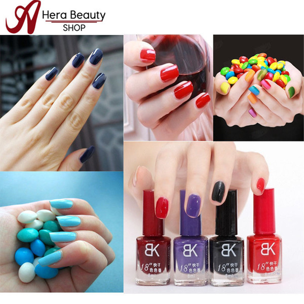 BK Nail polish 42 color bottle 18 seconds drying acrylic paint easy control gel fresh bluesky gel brand mini polish sweet color