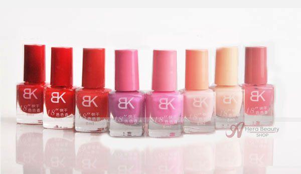 BK Nail polish 42 color bottle 18 seconds drying acrylic paint easy control gel fresh bluesky gel brand mini polish sweet color