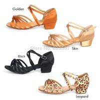 Wholesale Dance Shoes Ballroom For Children - Womens Comfortabl Ballroom Latin Tango Dance Shoes For Children,Teenage,Adult leopard gold brown black H2124 T15