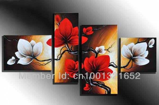 2018 wholesale 2015 hand painted hi q modern home decorative flower 2018 wholesale 2015 hand painted hi q modern home decorative flower oil painting on canvas red and white bombax ceiba framed from oott 6084 dhgate mightylinksfo Choice Image