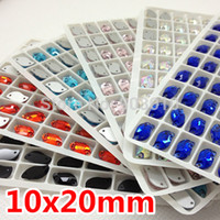 Wholesale Siam Fancy Stone - More Colors 120pcs 10x20mm S Shape Sew on Glass Crystal Fancy Stones Crystal AB,Lt Siam,Aquamarine,Pink,Jet,Sapphire