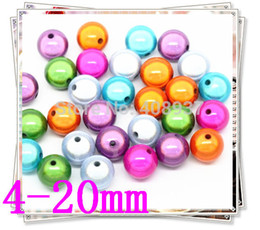 Wholesale Bubble Sweet - Colorful sweet 1000pcs 4mm random colors loose acrylic Miracle Beads,bubble gum round chunky Miracle Bead For making jewelry