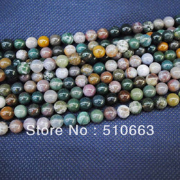 Wholesale 8mm Loose Beads - 188pcs Lot,India Agate Beads,Loose Semi Precious Stone Beads & Beads Accessories,Fit for Bracelet Making,DIY Jewelry,Size: 8mm