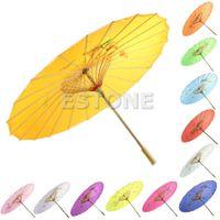 guarda-chuvas de arte chinesa venda por atacado-Guarda-chuva Chinês Atacado-Japonês Art Deco Parasol Pintado Para Festa De Dança De Casamento