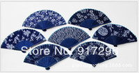 specialty fans - wedding souvenir hand fan chinese Enjoy cool air Multi color Specialty Blue printed fan Ladies Classical Retro Ethnic customs