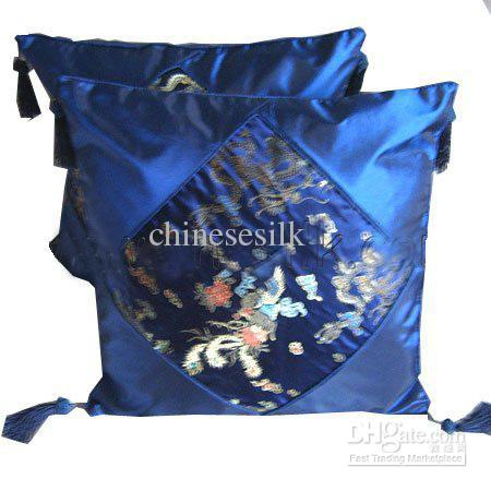 Patchwork Silk Pillow Case Tassel Fashion Chinese Style