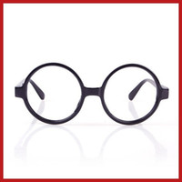 Wholesale Nerd Dress - digitalhome New Unisex Fashion Round Frame Party Fancy Dress Big Nerd Eyeglasses Glasses Save up to 50%