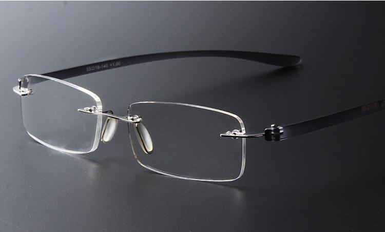adf4a021094a Brand Designer Vintage Light Eyeglasses Frame Rimless Men Women ...