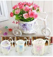 Wholesale Vase Craft Basket - 10pcs lot Rattan Crafts Basket Decoration Party Wedding Stricycle Vase Artificial Storage Box Basket Wedding Supplies Decoration