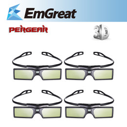 Wholesale Dlp Glasses - 4pcs lot G15-DLP 3D Active Shutter Glasses For Optoma Sharp LG Acer BenQ DLP-LINK DLP Link Projectors gafas 3d Free Shipping