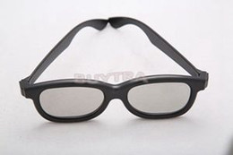 Wholesale Low Price Lcd Tvs - High Quality Polarized 3D Glasses Black Circular Movie DVD LCD Theatre Video Game New Brand Home TV 3D Glasses With Low Price