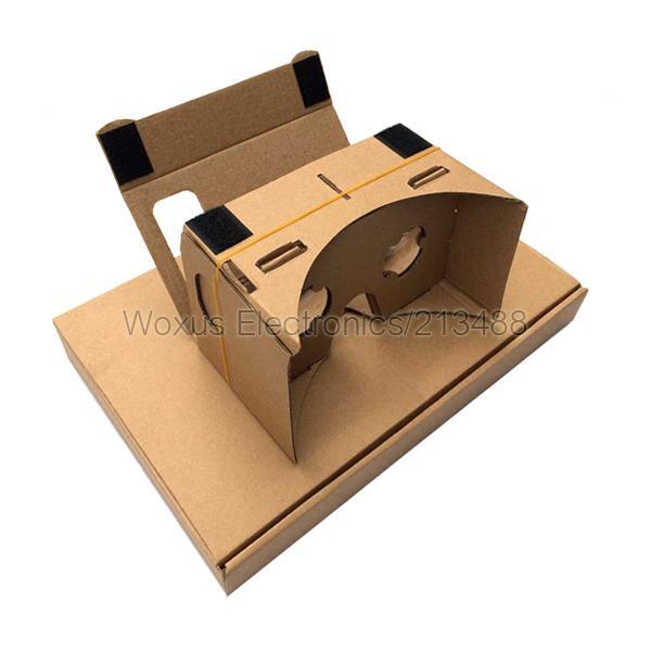 2015 Nuevo DIY Cartón Google Valencia Calidad 3D Vr Gafas de realidad virtual sin versión actualizada de NFC con impresión