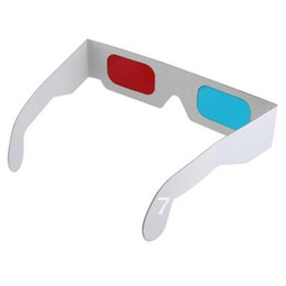Wholesale 3d Glasses Red Blue Paper - FEDEX free Paper 3D Glasses 3d virtual video View Anaglyph Red Cyan Red Blue 3d Glasses