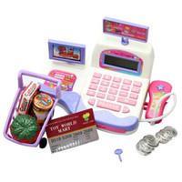 Wholesale Supermarket Cash Register Toy - Cash Register Toy Supermarket Toy Display and Scanning Function Kid Education NI