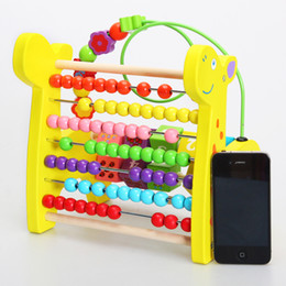 Wholesale Wooden Toys Maze - Baby Toys Wooden Eeducational Toy Animal Beads Maze of Calculation Baby Early Learning Math Toys Free Shipping Gift