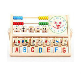Wholesale Baby Toy Frame - 2015 New Multifunction Toys Baby Learning Bead Abacus Computing Frame Counting Wooden Math Toys Gifts For Kids