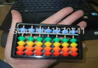 маленький пластиковый китайский оптовых-7 column cute small plastic Abacus with colorful  Chinese soroban Tool In Mathematics Education XMF022
