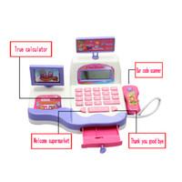 Wholesale Supermarket Cash Register Toy - Cash Register Toy Supermarket Toy Display and Scanning Function Kid Education V3NF
