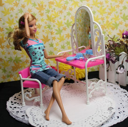 Wholesale Dress Minimum Order - Doll furniture accessories toys fancy classical dresser dressing table with chairs ( Mixed minimum order $8)