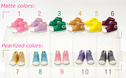 Wholesale Blythe Doll Shoes - Free Shipping 5pairs lot Mixed Colors 3.5cm Doll Sneaker Shoes 1 6 Scale for Blythe Dolls,BJD Doll Accessories Fashion Shoes