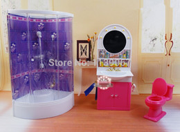 purple bathroom washroom hand washing sink closestool sets dollhouse furniture accessories for barbie kurhn kelly ken doll