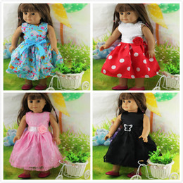 Wholesale Handmade Girls Accessories - Wholesale New Fashion Christmas Gifts For Children Girls Doll Accessories Handmade Princess Dress For 18'' American Girl Doll