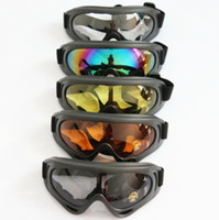 Wholesale Motor Moto Scooter - 20pcs lot CPAM Free Shipping! New Protect Motor Motorcycle Goggles Colored Sunglasses Scooter Moto Glasses